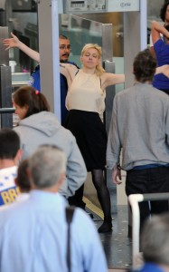 Courtney Love seen as at a security check in LAX Airport on June 8th 2010 in Los Angeles 3