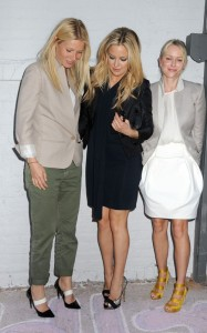 Gwyneth Paltrow seen with Kate Hudson and Naomi Watts at the Stella McCartney 2011 Spring Presentation on June 8th 2010 in the West Village of New York 1