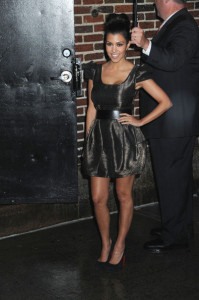 Kourtney Kardashian seen on June 10th 2010 at the Late Show With David Letterman at the Ed Sullivan Theater in NYC 2