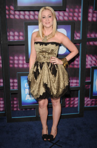 Kellie Pickler arrives at the 2010 CMT Music Awards at the Bridgestone Arena on June 9th 2010 in Nashville Tennessee 1