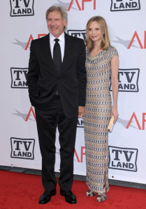 Calista Flockhart and Harrison Ford arrive at the 38th AFI Life Achievement Award honoring Mike Nichols held at Sony Pictures Studios on June 10th 2010 in Culver City California 3