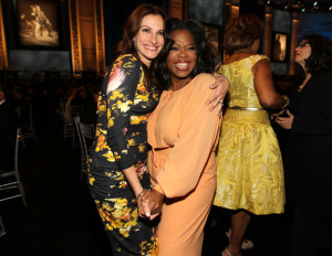 Julia Roberts and Oprah Winfrey at the 38th AFI Life Achievement Award honoring Mike Nichols held at Sony Pictures Studios on June 10th 2010 in Culver City California 1