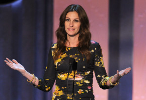 Julia Roberts speaks during the 38th AFI Life Achievement Award honoring Mike Nichols held at Sony Pictures Studios on June 10th 2010 in Culver City California 3