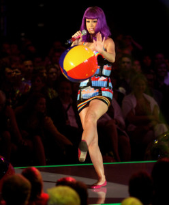 Katy Perry performs at the PRO7 TV show Germanys Next Topmodel Final at the Lanxess Arena on June 10th 2010 in Cologne Germany 1