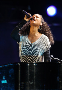 Alicia Keys sings live at the FIFA World Cup Kick Off Celebration Concert held on June 11th 2010 at the Orlando Stadium in Soweto South Africa 3