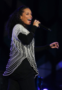 Alicia Keys sings live at the FIFA World Cup Kick Off Celebration Concert held on June 11th 2010 at the Orlando Stadium in Soweto South Africa 8