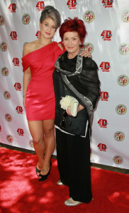 Kelly and Sharon Osbourne attend a garden party at Getty House on June 6th 2010 in Los Angeles California 5