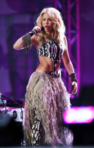 Shakira sings live at the FIFA World Cup Kick Off Celebration Concert held on June 11th 2010 at the Orlando Stadium in Soweto South Africa 7