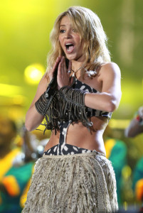 Shakira sings live at the FIFA World Cup Kick Off Celebration Concert held on June 11th 2010 at the Orlando Stadium in Soweto South Africa 6