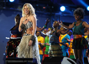 Shakira sings live at the FIFA World Cup Kick Off Celebration Concert held on June 11th 2010 at the Orlando Stadium in Soweto South Africa 8