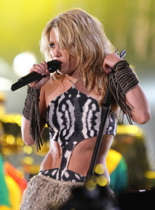 Shakira sings live at the FIFA World Cup Kick Off Celebration Concert held on June 11th 2010 at the Orlando Stadium in Soweto South Africa 5