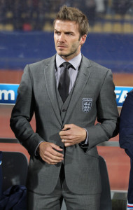 David Beckham on the bench of the England team during England vs USA football world cup match on June 12th 2010 in South Africa 8