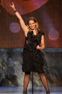 Christine Jones with her award during the 64th Annual Tony Awards at The Sports ClubLA on June 13th 2010 in New York City 4