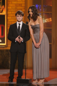 Daniel Radcliffe and Katie Holmes on stage at the 64th Annual Tony Awards at The Sports ClubLA on June 13th 2010 in New York City 1