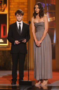 Daniel Radcliffe and Katie Holmes on stage at the 64th Annual Tony Awards at The Sports ClubLA on June 13th 2010 in New York City 2