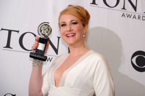 Katie Finneran poses with her award at the 64th Annual Tony Awards at The Sports ClubLA on June 13th 2010 in New York City 5