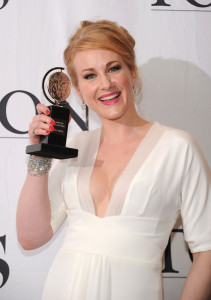 Katie Finneran poses with her award at the 64th Annual Tony Awards at The Sports ClubLA on June 13th 2010 in New York City 2