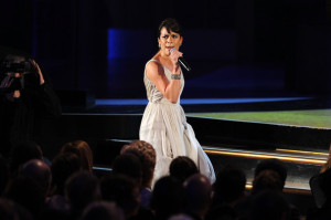 Lea Michele performs during the 64th Annual Tony Awards at The Sports ClubLA on June 13th 2010 in New York City 4