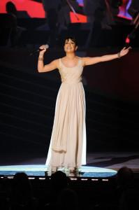 Lea Michele performs during the 64th Annual Tony Awards at The Sports ClubLA on June 13th 2010 in New York City 2