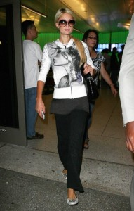 Paris Hilton seen on june 12th 2010 arriving at LAX on a flight from Brazil in Los Angeles 1