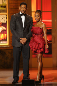 Will and Jada Pinkett Smith speak onstage during the 64th Annual Tony Awards at The Sports ClubLA on June 13th 2010 in New York City 4