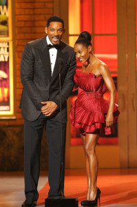 Will and Jada Pinkett Smith speak onstage during the 64th Annual Tony Awards at The Sports ClubLA on June 13th 2010 in New York City 6