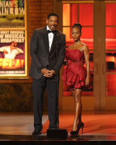 Will and Jada Pinkett Smith speak onstage during the 64th Annual Tony Awards at The Sports ClubLA on June 13th 2010 in New York City 3