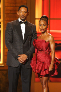Will and Jada Pinkett Smith speak onstage during the 64th Annual Tony Awards at The Sports ClubLA on June 13th 2010 in New York City 5
