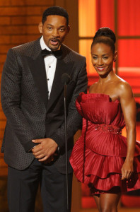 Will and Jada Pinkett Smith speak onstage during the 64th Annual Tony Awards at The Sports ClubLA on June 13th 2010 in New York City 2