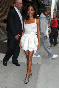 Jada Pinkett Smith seen on June 14th 2010 outside of the Ed Sullivan Theatre before appearring on The Late Show With David Letterman show 1