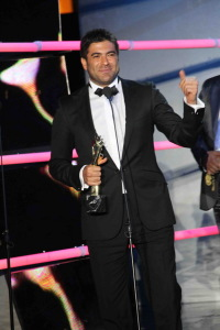 Lebanese singer Wael Kfouri during the 2010 annual Murex dor awards in Lebanon