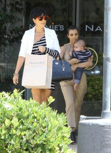 Kris Jenner seen with her daughter Kourtney Kardashian and her grandson Mason Disick on June 14th 2010 while shopping at Naimies Beauty Center 1