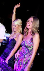 Paris Hilton and her sister Nicky seen together on June 12th 2010 at PURE Nightclub in Las Vegas 1