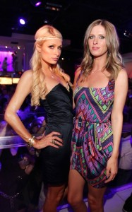 Paris Hilton and her sister Nicky seen together on June 12th 2010 at PURE Nightclub in Las Vegas 2