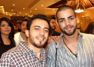 picture of star academy season 7 student Mohamad Ramadan from Jordan at the final prime dinner party with Jordanian student Bassel Khoury