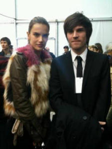 Alessandra Ambrosio backstage picture at the Louis Vuitton Ready to Wear collection at Cour Carree du Louvre on March 10th 2010 in Paris France 5