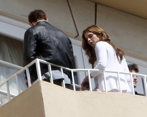Kellan Lutz and Ashley Greene spotted together on June 13th 2010 at the terrace on their hotel balcony 2