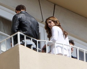 Kellan Lutz and Ashley Greene spotted together on June 13th 2010 at the terrace on their hotel balcony 1