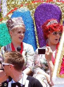 Kelly and Sharon Osbourne seen together on June 13th 2010 at the Grand Marshals for the 40th Gay Pride Celebration Parade in Los Angeles 3