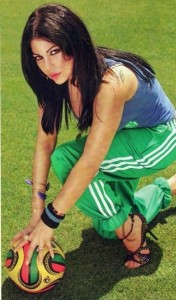 Haifa Wehbe football photo shoot 10