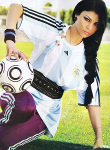 Haifa Wehbe football photo shoot 4