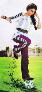 Haifa Wehbe football photo shoot 2