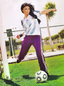 Haifa Wehbe football photo shoot 6
