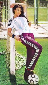Haifa Wehbe football photo shoot 5