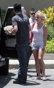 Britney Spears and her boyfriend Jason Trawick seen on June 19th 2010 in Calabasas 2