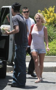 Britney Spears and her boyfriend Jason Trawick seen on June 19th 2010 in Calabasas 3