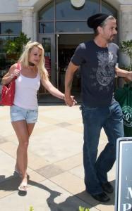 Britney Spears and her boyfriend Jason Trawick seen on June 19th 2010 in Calabasas 5