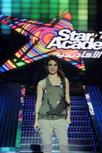 picture of the fifth Prime of star academy seven on March 26th 2010 with Hilda Khalife 3