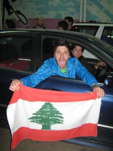 rayan Eid as he leaves the star academy building after he was voted off the competition 4