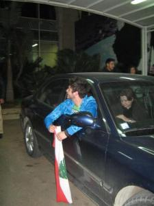 rayan Eid as he leaves the star academy building after he was voted off the competition 3